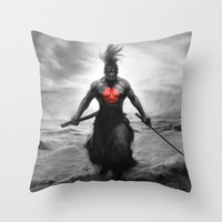 Courage of Samurai Throw Pillow