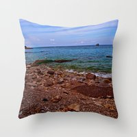 Beach: Amalfi Coast, Italy Throw Pillow