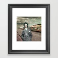 The Salesman Framed Art Print