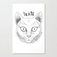 DEATH. (White) Canvas Print