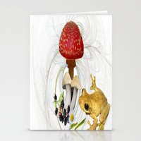 Mr Frog And The Toadstoo… Stationery Cards