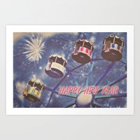 Happy New Year Art Print