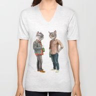 A Cats Night Out Unisex V-Neck