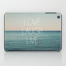 Love Laugh Live #2 iPad Case