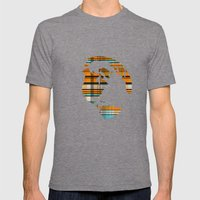 Rusty Teal Mens Fitted Tee Tri-Grey SMALL