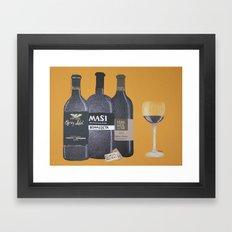 In vinum es veritas Framed Art Print