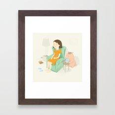 Sneaky peek Framed Art Print
