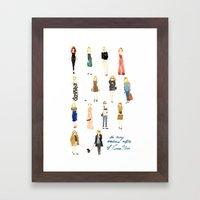 The Many Wondrous Outfits of Emma Stone Framed Art Print