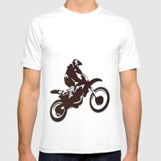 Motor X Silhouette SMALL Mens Fitted Tee White