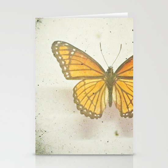 Golden Butterfly Stationery Card