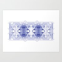 The Willow Pattern (Blue… Art Print