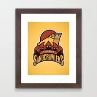 Tatooine SandCrawlers - … Framed Art Print