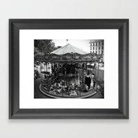 Carousel in Paris Framed Art Print