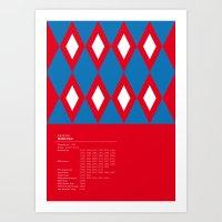 Bayern München Geometri… Art Print