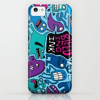iPhone 5c Cases featuring More Monsters by Chris Piascik