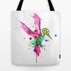 Hummingbird Skeleton Watercolor/Pen&Ink Tote Bag