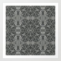 Frozen Black Art Print