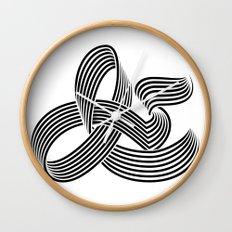 Eye bending Ampersand. Wall Clock