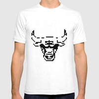Bulls Bulls Bulls Mens Fitted Tee White SMALL