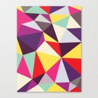 Disco Tris Canvas Print