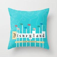 Park Entrance | Disney inspired Throw Pillow