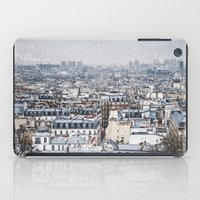Snowy Paris iPad Case