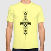 Geometric Device Mens Fitted Tee Lemon SMALL