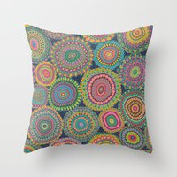 Boho Patchwork-Eden colors Throw Pillow