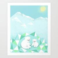 Arctic Den Art Print