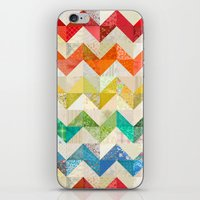 Chevron Rainbow Quilt iPhone & iPod Skin