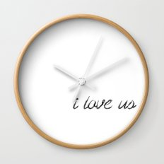 i love us Wall Clock