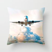 The Miracle of Flight Throw Pillow
