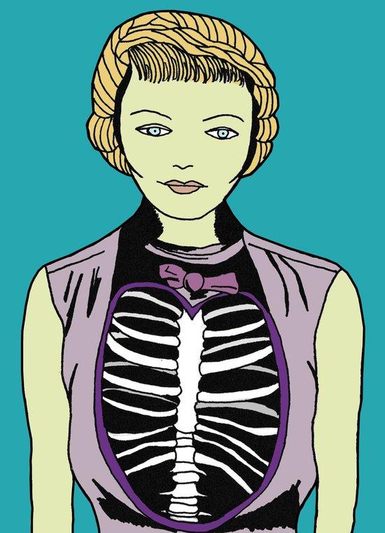 Miss Zombie Art Print