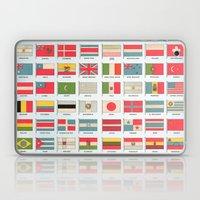 Vintage World Flags Laptop & iPad Skin