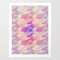 Lava Lamp Lavender  Art Print