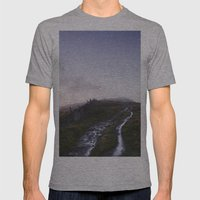 Mountain Path And Fence … Mens Fitted Tee Athletic Grey SMALL