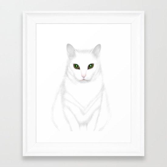 Pixel | The Cat who Walks Through Walls Framed Art Print