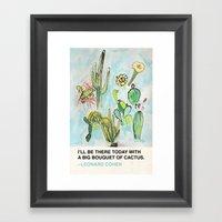 Big Bouquet of Cactus Framed Art Print