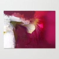 Crimson Orchid Canvas Print