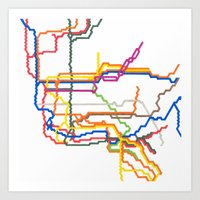 NYC Subway System (Compl… Art Print