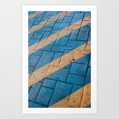 Yellow Lines at the ground Art Print
