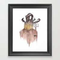 Beware Of Graboids! Framed Art Print