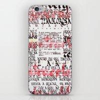 Calligraphic poster iPhone & iPod Skin