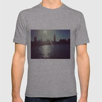 Big Ben Silhouette   Mens Fitted Tee Athletic Grey SMALL