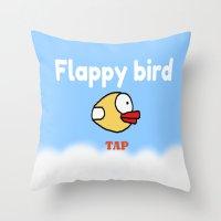 Flappy Bird Throw Pillow