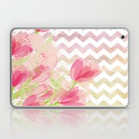 Chevron Tulips Laptop & iPad Skin