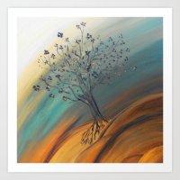 Roots Blazing Art Print