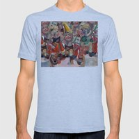 Hummel Funnel Mens Fitted Tee Athletic Blue SMALL