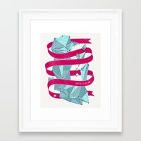 Nothing To See Here. Framed Art Print