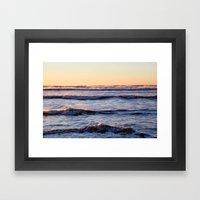 Winter Ocean Framed Art Print